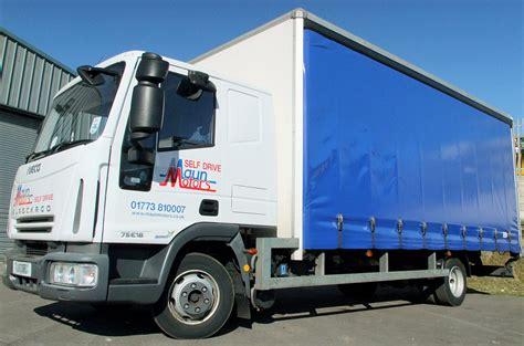curtain side van hire maun motors self drive curtain side truck hire 7 5
