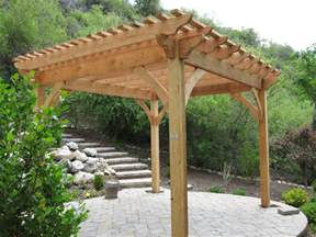 Timber Frame Pergola by Adding Shade With A Natural Finish Timber Frame Pergola