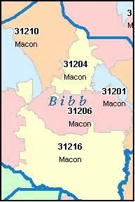 macon ga zip code map downloads