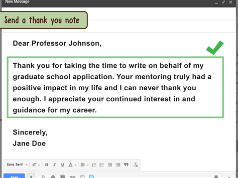 thank you letter message how to ask for a letter of recommendation through email