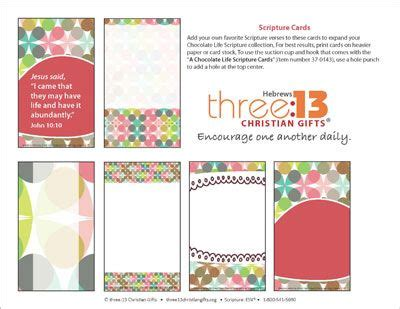 Scripture Memory Cards Template by 1000 Images About Quot Living A Chocolate Quot On