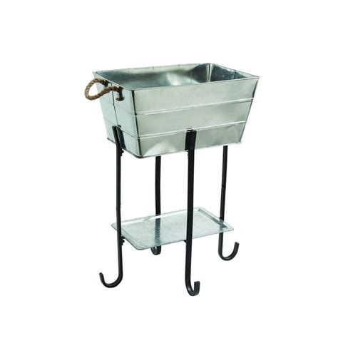 Galvanized Beverage Tub With Stand galvanized metal beverage tub with stand 14027 the home depot