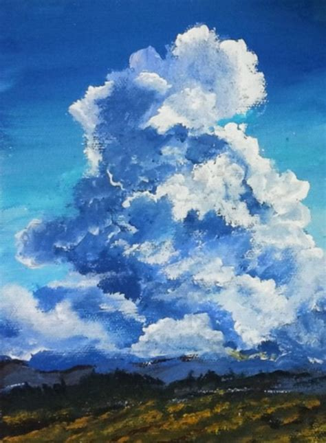 acrylic paint clouds clouds in a landscape acrylic painting lessons for