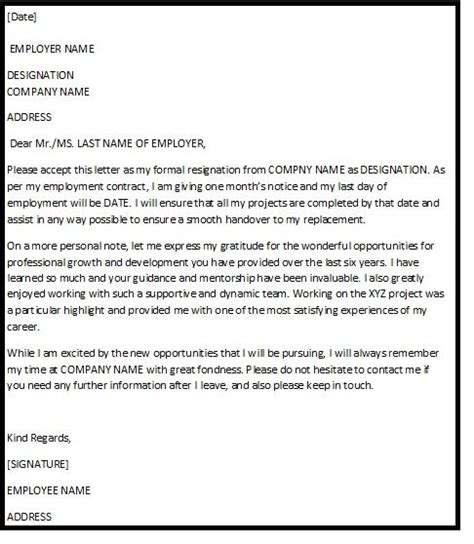 Resignation Letter Personal Development 25 Best Ideas About Resignation Letter Format On Sle Of Letter Letter Format