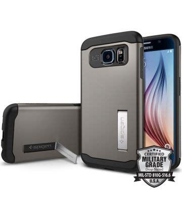 Spigen Slim Armor Gunmetal Samsung Galaxy S6 spigen slim armor samsung galaxy s6 gunmetal gsmpunt nl