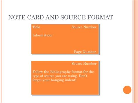 source card template note card and source card 8th grade