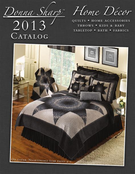 home interior catalog 2013 2013 donna sharp home d 233 cor catalog by donna sharp inc