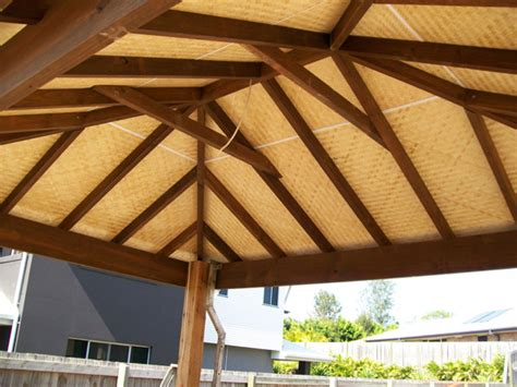 Patio Ceiling Lining by Bamboo Screens Posts Mandurah Perth