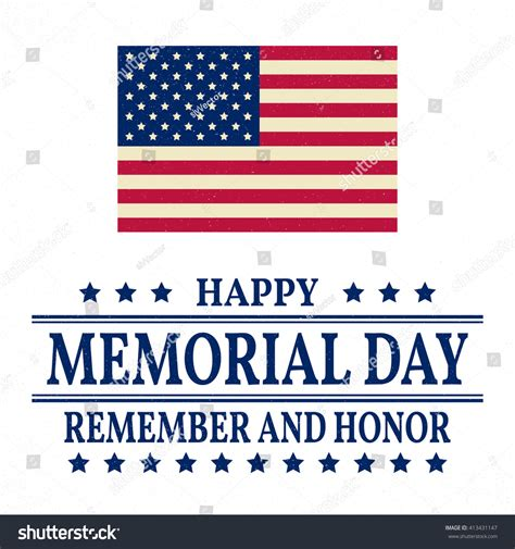 happy veterans day greeting card template happy memorial day greeting card vector stock vector