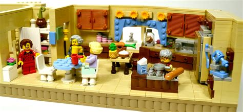 lego house sets lego ideas the golden girls living room and kitchen