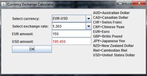 currency converter java program java programs currency exchange calculator