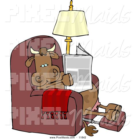 Reading Recliner by Clipart Of A Relaxed Cow Sitting On A Recliner