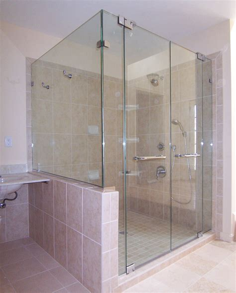 Framelss Shower Doors Panel Door Panel Return Shower Door King Shower Door Installations