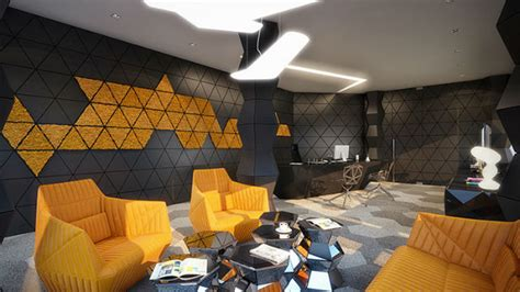 geometric design rompharm office interior design