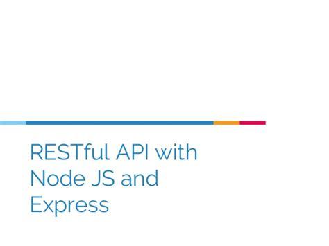 simple node js api rest api with node js and express