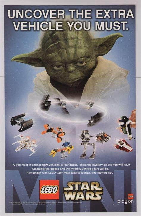 Master Ads 10 Item Bonus lego wars print ad yoda mini vehicle sets advertisement toys 2003