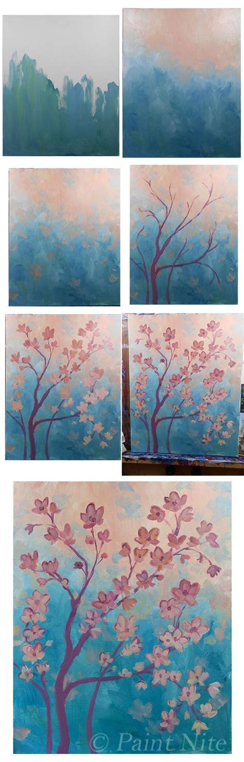 acrylic painting step by step for beginners step by step canvas painting pictures to pin on