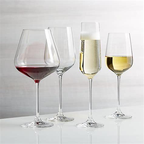 hip wine glasses crate  barrel