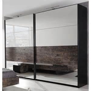 armoire penderie 2 portes coulissantes avec miroir 2