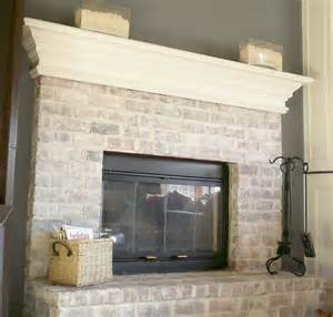 whitewash brick fireplace whitewashed brick fireplace for the home