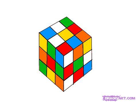 tutorial gambar rubik 3d how to draw a rubiks cube step by step stuff pop