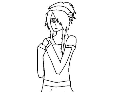 coloring page of sad girl coloring page sad emo girl color online coloringcrew