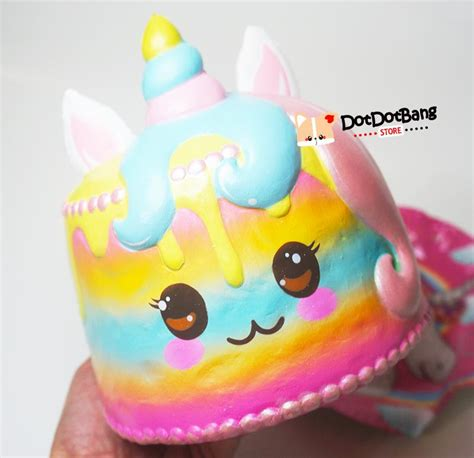 Squishy Licensed Ibloom Medium Original Promo Special jumbo puni maru unicorn rainbow cake scented rising sq dotdotbang
