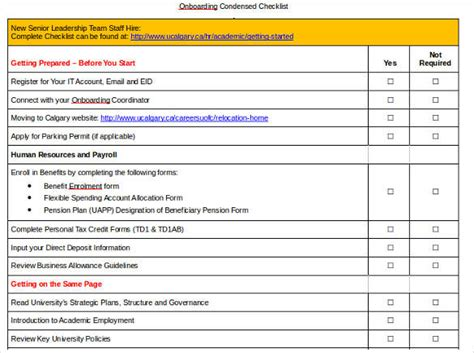 8 Onboarding Checklist Sles And Templates Pdf Word Excel Sle Templates Condensed Business Plan Template