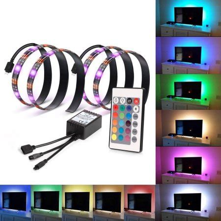 Multi Color Led Light Strips Kohree 2 Rgb Multi Color Led Light Bias Lighting