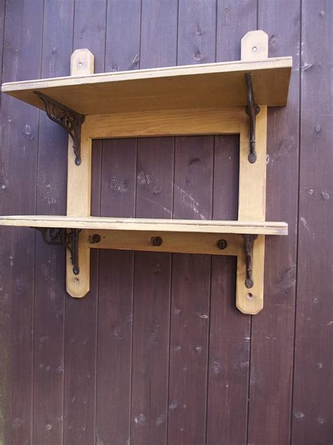 woods vintage home interiors reclaimed two tier kitchen shelf by woods vintage home interiors notonthehighstreet