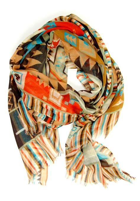 tribal pattern scarf mayan pattern scarf accessorize pinterest tribal