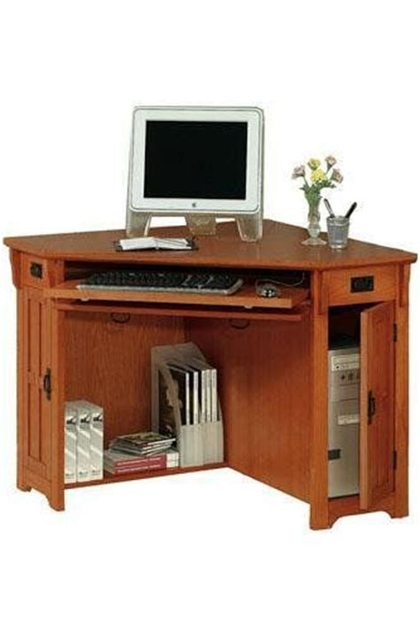 Small Oak Computer Desks For Home Oak Corner Computer Desks For Home 16 Best Office Images On Small Corner Desk