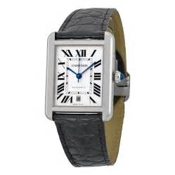 cartier tank xl automatic silver stainless steel