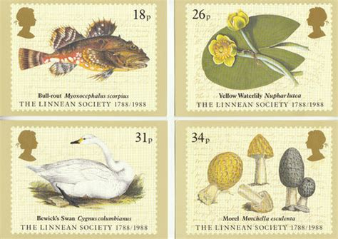 Where To Use Post Office Gift Card - collectable cards u k post office set of 4 bicentenary of linnean society cards 1988