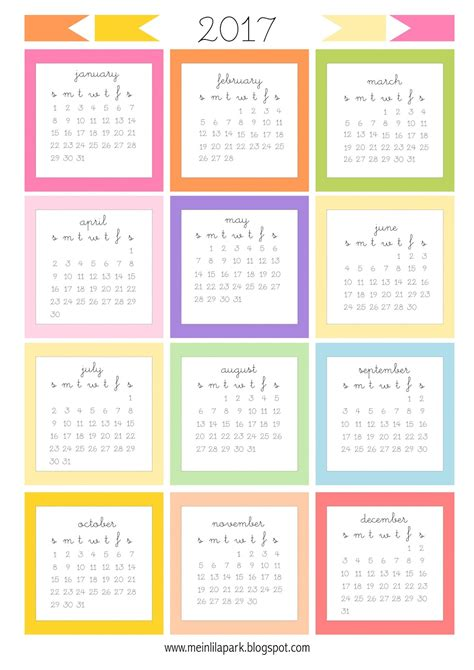 Printable Calendar Cards | free printable 2017 mini calendar cards bullet journal