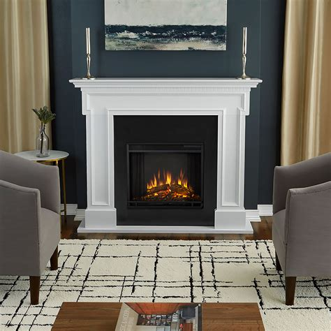 Electric Fireplace Surround by Thayer Electric Fireplace Mantel Package In White 5010e W