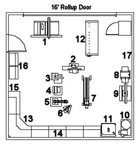 workshop layout diagram woodshop ideas home workshop layouts