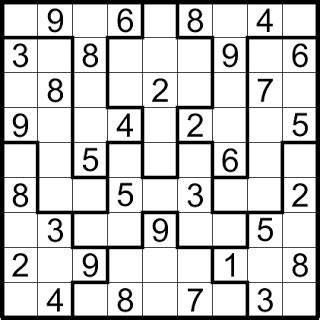 printable sudoku jigsaw puzzles 5 best images of irregular sudoku printable printable