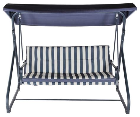 Colorado Metal 3 Seat Swing Bench Contemporary Garden