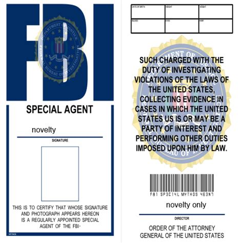 fbi id card template fbi id badge co uk appstore for android
