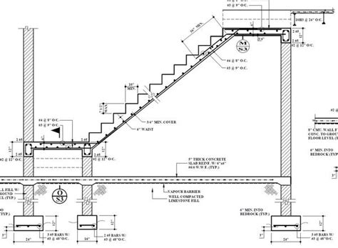 concrete stair section concrete staircase structural details staircase gallery