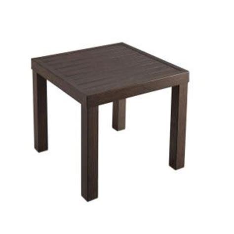 hton bay woodbury patio accent table d9127 ts the patio end tables home depot
