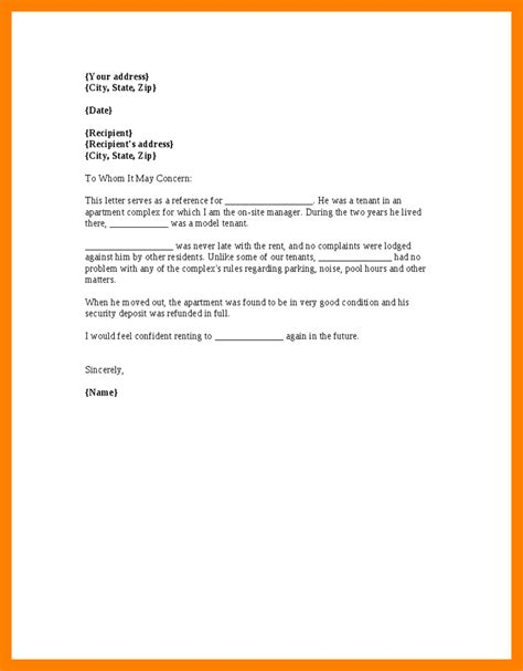 7 rent reference letter resume pictures