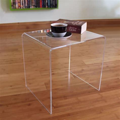 clear acrylic side table clear acrylic plastic table bedside table coffee table