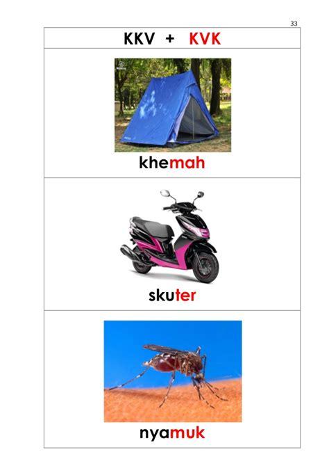 Gabungan Gambar Dan Kata senarai gabungan bunyi kata pola suku kata