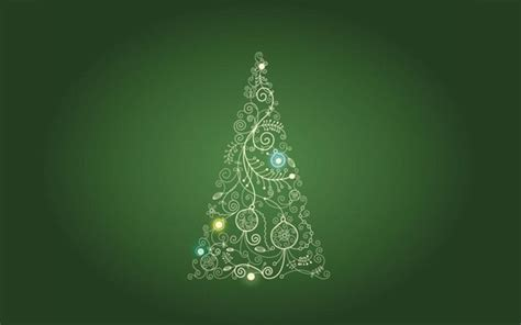 abstract christmas tree on green android central