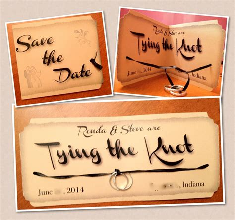Literally Tying The Knot Crafty Wedding Hold The Date Templates