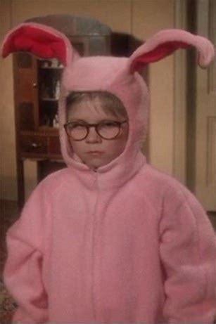 christmas story pink rabbit meme generator