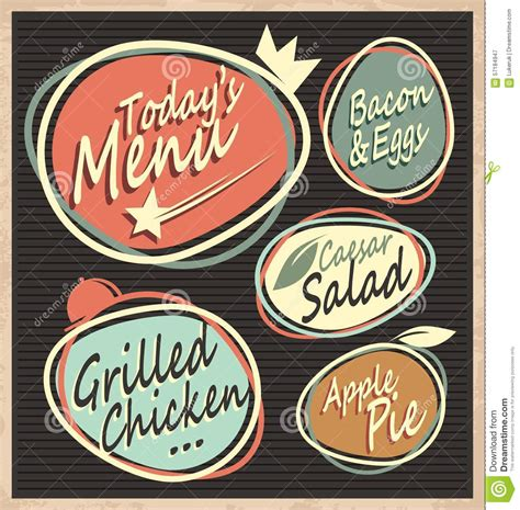 retro restaurant menu template stock vector image 57184947