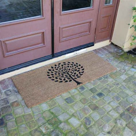 Wide Welcome Mat Mat Door Status Brown Cotton Anti Skid Floor Door Mats